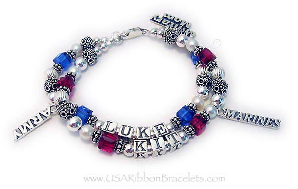 Army Marines Army Mom Bracelet