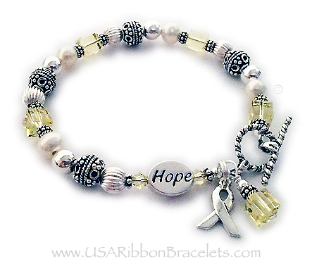 HOPE Yellow Ribbon Bracelet