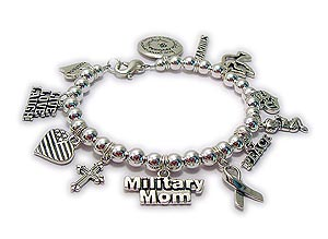Military Charm Bracelet with Forces Charms
