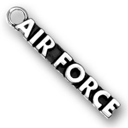 Product Description - Air Force Charm Air Force brats and those who have loved ones in the Air Force will treasure this Sterling Silver Air Force Charm.