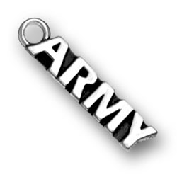 Product Description - Army Charm Are you in the Army? Do you have a loved one in the Army? This Sterling Silver Army Charm lets the world know about your Army affiliation.