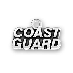 Product Description - Coast Guard Charm Members of the Coast Guard and those who love them will all be proud to wear this Sterling Silver Coast Guard Charm.