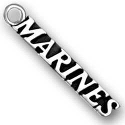 Product Description - Marines Charm If you are in the Marines or if you know someone in the Marines, show the world how proud you are with this Sterling Silver Marines Charm.
