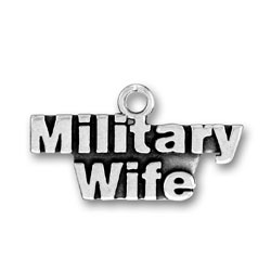 Product Description - Military Wife Charm No military wife's charm bracelet would be complete without this Sterling Silver Military Wife Charm.