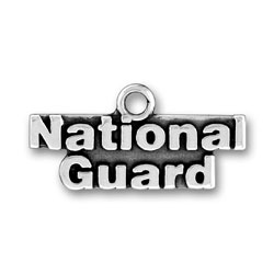 Product Description - National Guard Charm This Sterling Silver National Guard Charm is proudly worn by those who defend, serve, and protect our great country.  Made in the USA