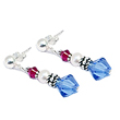 Red white and blue earrings