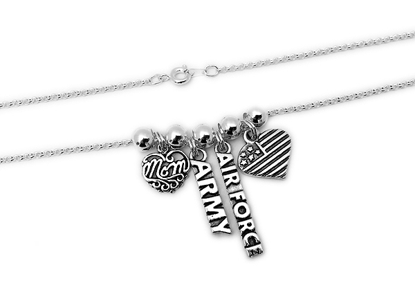 Military MOM Necklace - Air Force