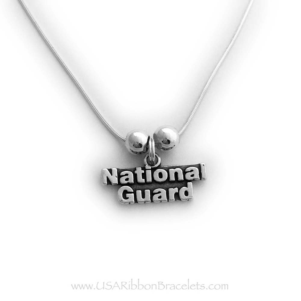 Natioanl Guard Charm Necklace for Mom