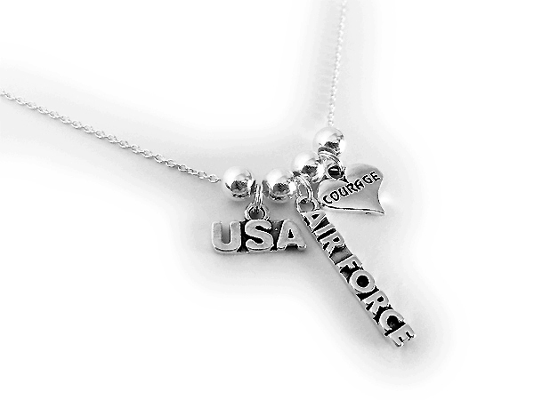 Military Mom Charm, Army Charm, Coast Guard Charm Neckalce