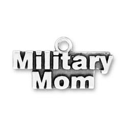 Sterling Silver Military Mom charm