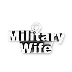 Sterling Silver Military Wife charm