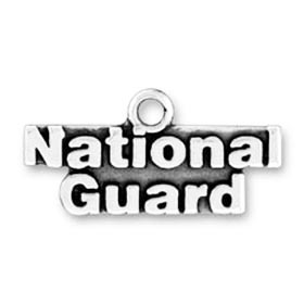 Sterling Silver National Guard charm