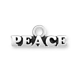 Sterling Silver USA Peace charm