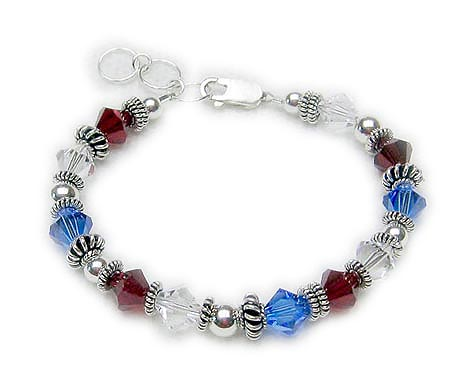 Red White and Blue Bracelet Number 2