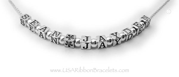 Spacer Name Necklace
