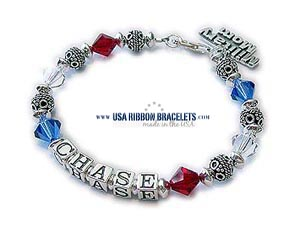 Red White & Blue Independece Day Bracelet