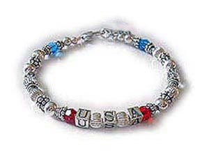 Red, White & Blue Bracelet for Military Mommys and Military Grandmas