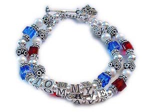 Red White & Blue Officers Wife Bracelet